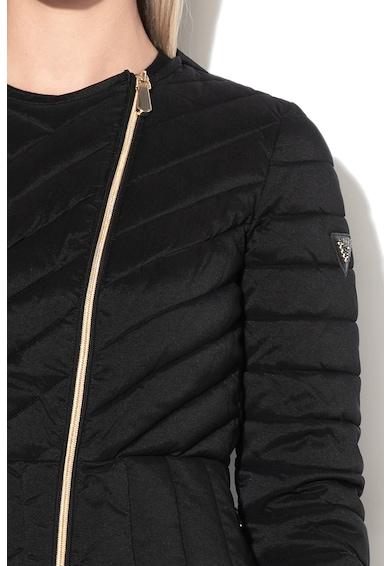 GUESS JEANS Enyhén bélelt dzseki levehető gallérral női