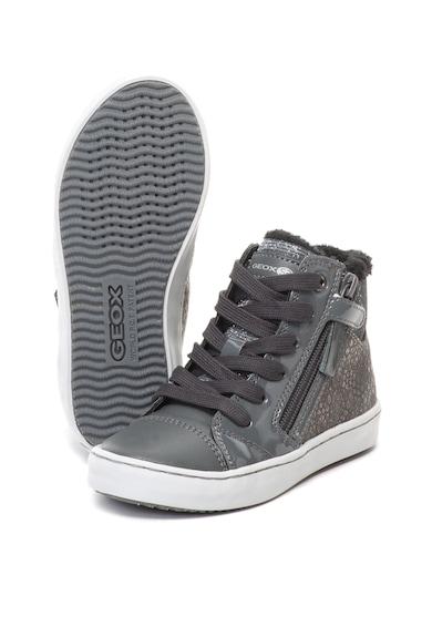Geox Pantofi sport mid-high cu captuseala pufoasa Gisli Fete