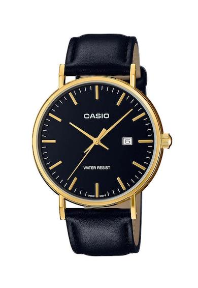 Casio Аналогов часовник Classic с кожена каишка Мъже