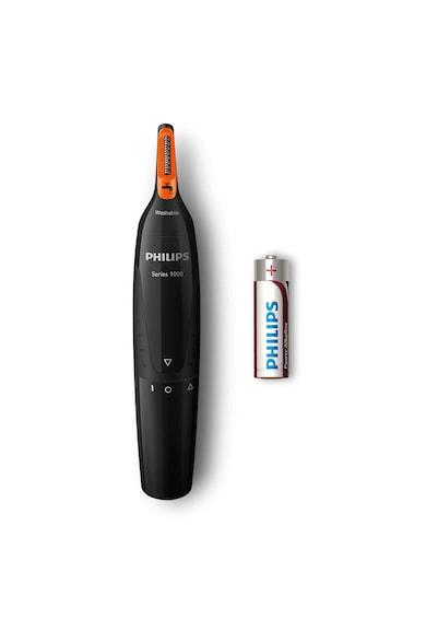 Philips Set aparat de tuns  Seria3000 + trimmer nas si urechi /85, pieptene ajustabil, 0.5-23mm, 13 trepte, Lame lavabile, Negru/Argintiu Barbati
