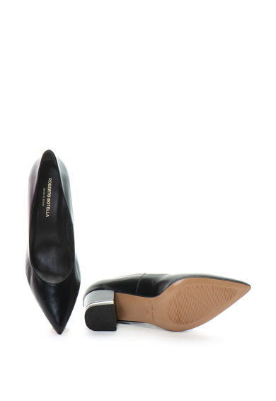 Roberto Botella Pantofi de piele cu varf ascutit si toc masiv Femei