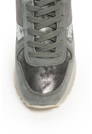 U.S. Polo Assn. Tabitha nubuck bőr sneakers cipő csillámos részletekkel női