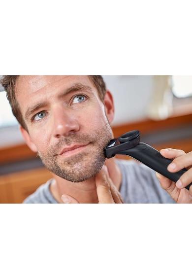 Philips Aparat hibrid de barbierit si tuns barba  OneBlade Pro QP6510/60, Umed & Uscat, Pieptene 12 lungimi, Negru/Argintiu + lama suplimentara Barbati