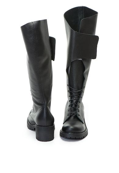Mihaela Glavan Bocanci de piele lungi pana la genunchi Femei
