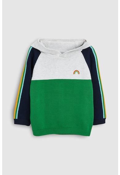 NEXT Kapucnis pulóver colorblock dizájnnal Fiú