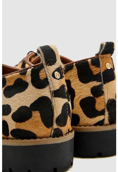 NEXT Pantofi de piele cu par scurt si animal print Femei