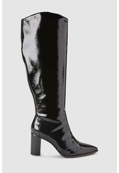 NEXT Cizme lungi pana la genunchi cu varf ascutit si aspect lacuit Femei