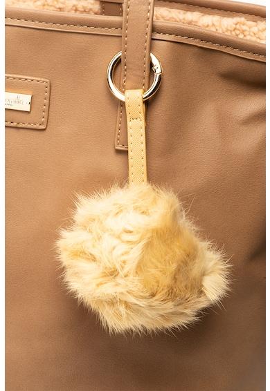 Camomilla Geanta shopper de piele ecologica cu captuseala din material teddy si etui Vicky Femei