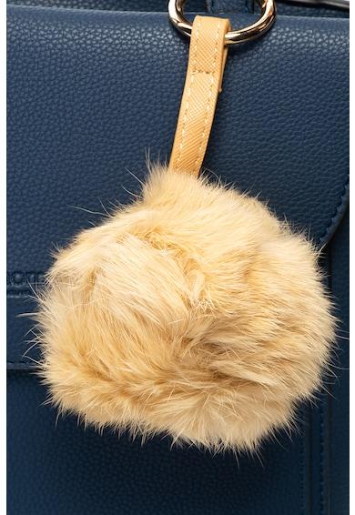 Camomilla Geanta de piele ecologica cu bareta pentru umar si accesoriu pufos Bluddi Femei