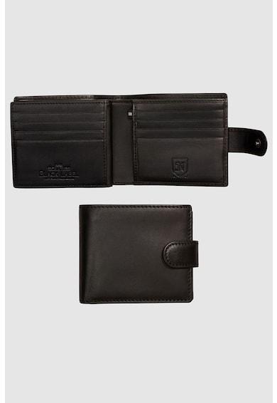 NEXT Félbehajtható bőr pénztárca patenttal férfi