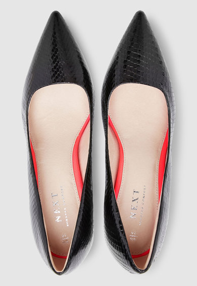 NEXT Pantofi cu toc masiv si aspect lacuit Femei