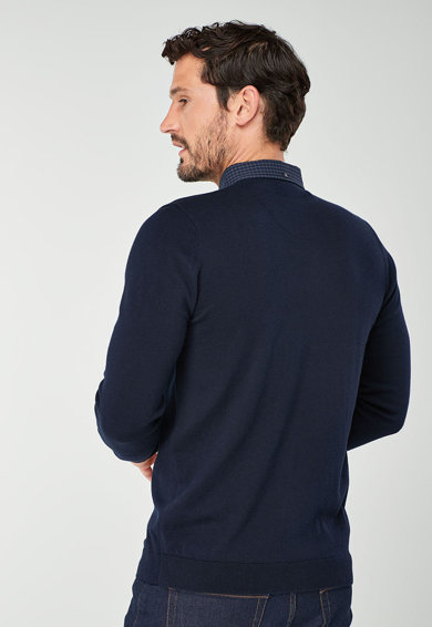 NEXT Galléros pulóver hímzett részlettel férfi