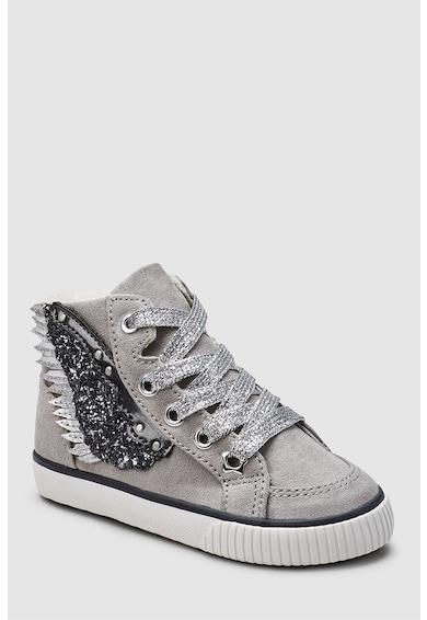 NEXT Magas szárú sneakers cipő plüssbéléssel Lány