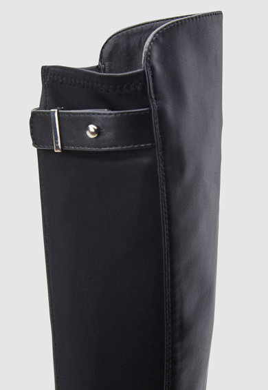NEXT Cizme de piele ecologica si material textil lungi peste genunchi Fete