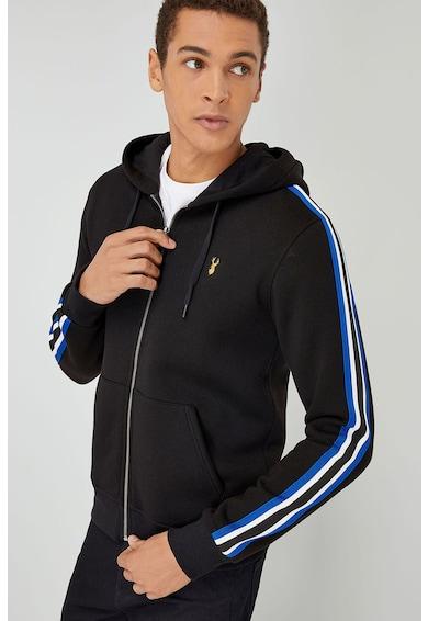 NEXT Cipzáros kapucnis pulóver megkötővel férfi