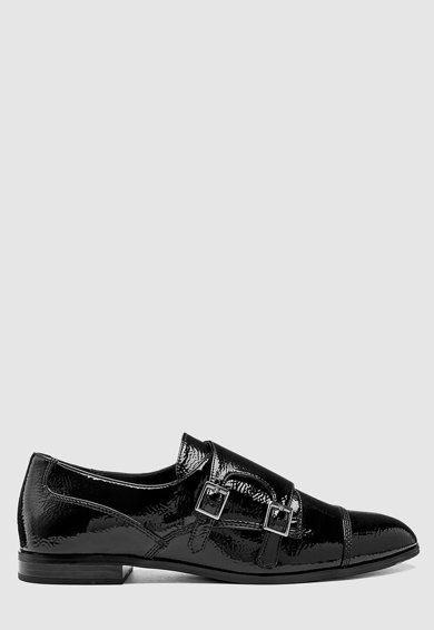 NEXT Pantofi monk de piele lacuita Femei