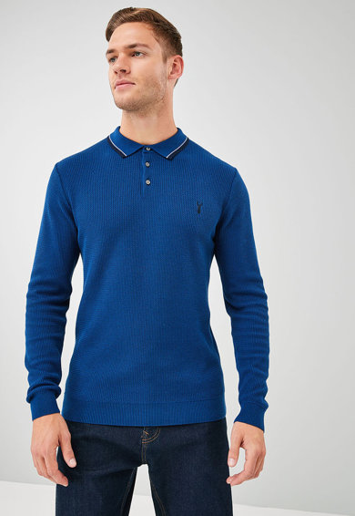 NEXT Bluza polo cu terminatie contrastanta Barbati