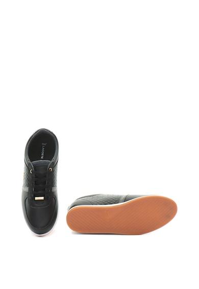 Lacoste Pantofi sport de piele cu design matlasat Rey Sport Femei