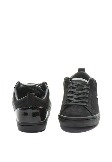 Lacoste Straight Set nubuck bőr sneakers cipő lakkozott hatással női