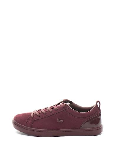Lacoste Straight Set nubuk bőr sneakers cipő lakkozott részletekkel női