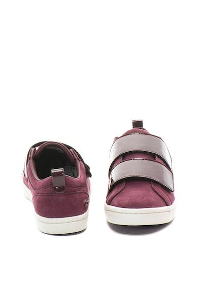 Lacoste Straight Set nubuk bőr sneakers cipő lakkozott betéttel női