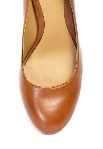 Lauren Ralph Lauren Pantofi de piele cu toc masiv Maddie Femei