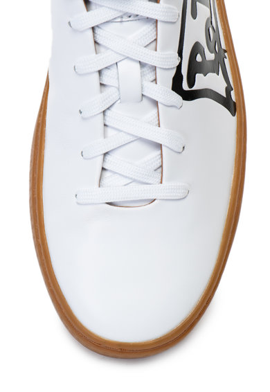 Polo Ralph Lauren Pantofi sport de piele, cu logo Court Femei