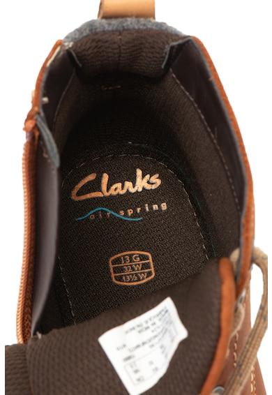 Clarks Comet Rock bőrbakancs textil szegélyekkel Lány