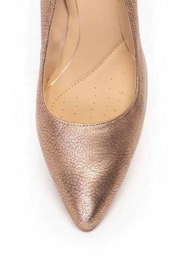 Clarks Pantofi cu varf ascutit, de piele cu aspect metalizat Laina Rae Femei