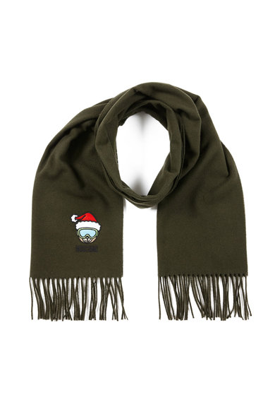Moschino Fular de lana, cu broderie Femei