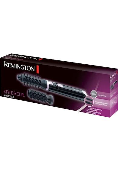 Remington Perie cu aer cald  Style & Curl , 400W, 2 trepte de temperatura, 2 accesorii, Negru Femei