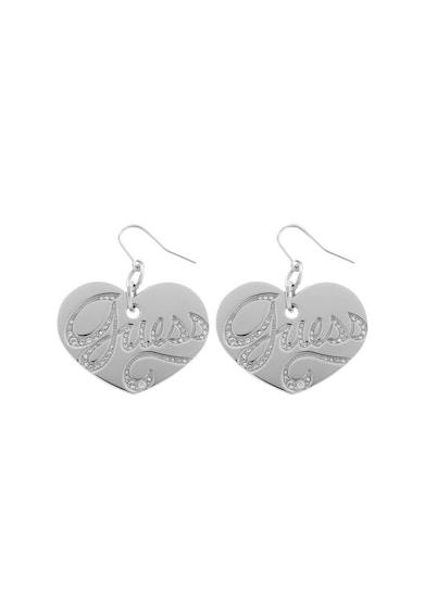 Guess Szív alakú fülbevaló Swarovski kritályokkal női