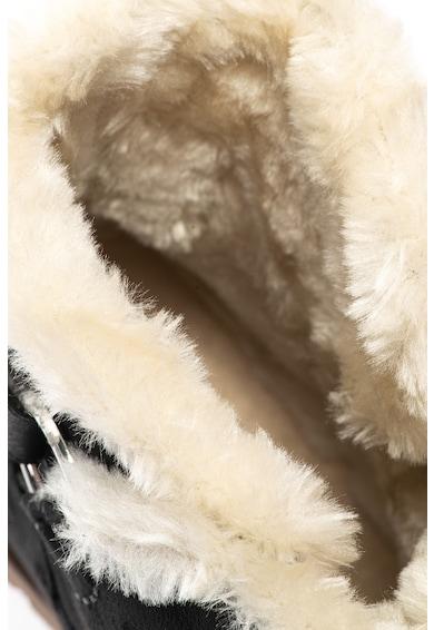 Tom Tailor Rövid szárú nyersbőr hatású csizma műszőrme béléssel női