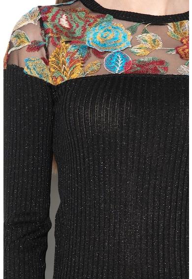 DESIGUAL Pulover cu broderie si insertii de plasa Kelly Femei