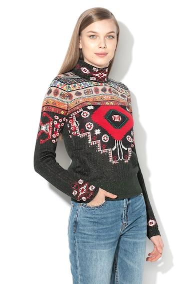 DESIGUAL Десениран пуловер Conny с бляскав ефект Жени
