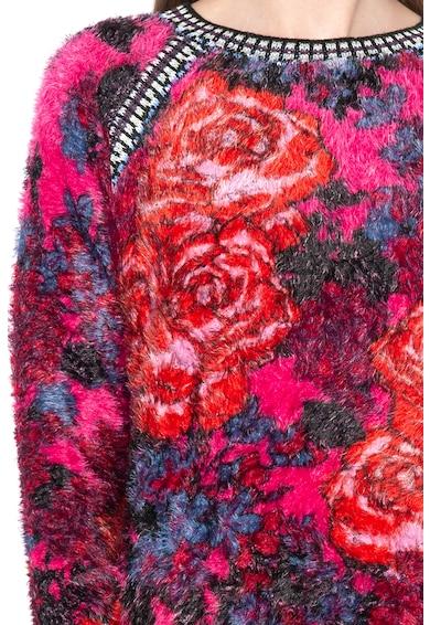 DESIGUAL Мъхест пуловер Peony с флорален десен Жени