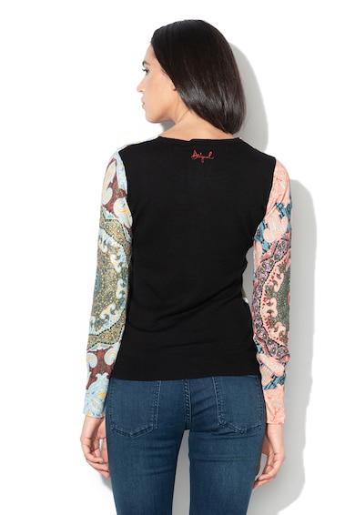 DESIGUAL Пуловер Karenina от жарсе с абстрактен десен Жени