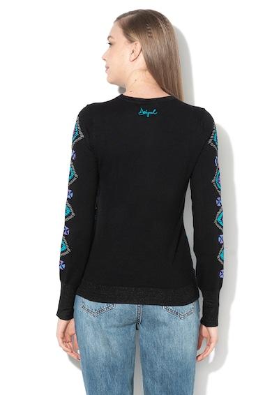 DESIGUAL Пуловер с фигурална щампа и бляскави нишки Жени