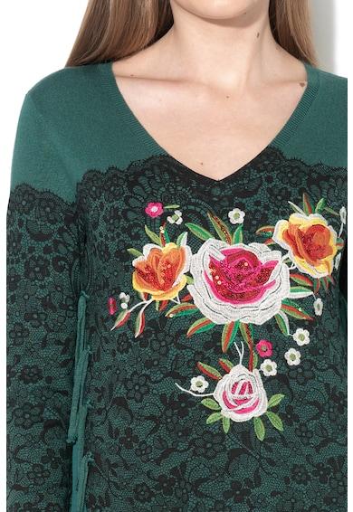 DESIGUAL Флорална блуза Manhathan с пайети Жени