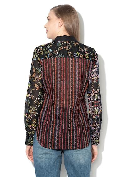 DESIGUAL Leila virágmintás ing dekoratív részletekkel női
