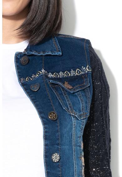 DESIGUAL Дънково яке Bluely с плетени ръкави Жени