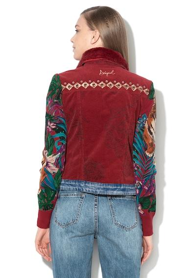 DESIGUAL Яке Yuma с плетени ръкави и еко пух на яката Жени