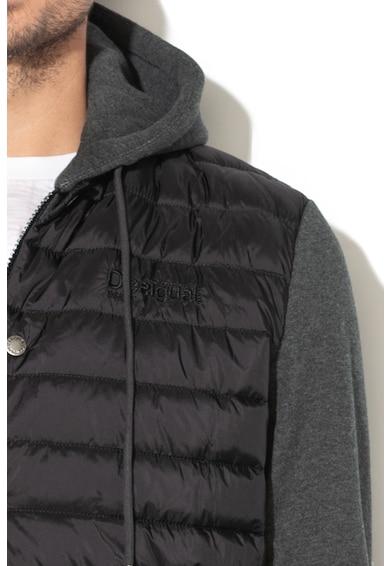 DESIGUAL Aldo kapucnis dzseki dekoratív szegélyekkel férfi