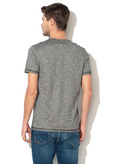 DESIGUAL Gage póló bársonyos rátétekkel férfi