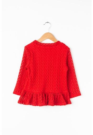 GUESS JEANS Дантелена блуза с набран подгъв Момичета