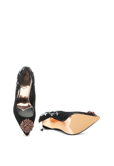 Ted Baker Pantofi de piele intoarsa cu aplicatii din strasuri Peetche Femei
