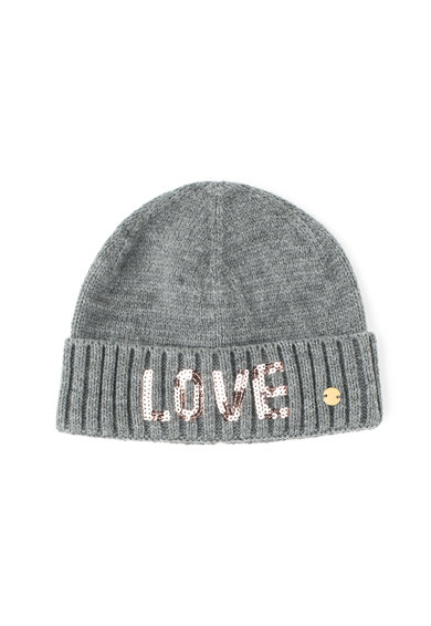 Esprit Овална шапка с текстова апликация с пайети Момичета