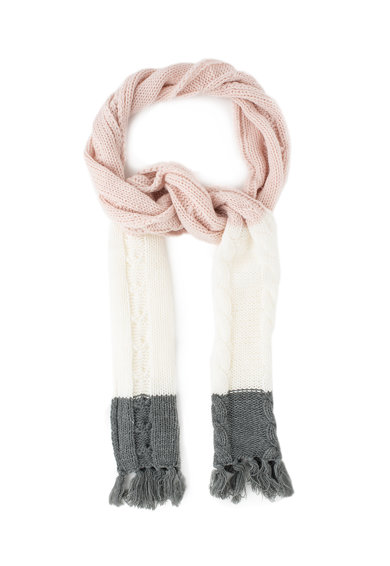 Esprit Fular din tricot cu model colorblock si detalii cu canaf Fete