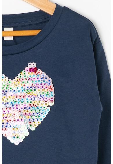 Esprit Bluza cu aplicatie in forma de inima din paiete reversibile Fete