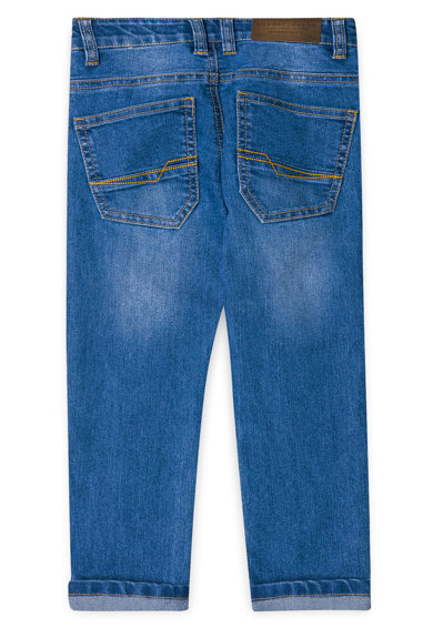 Esprit Прави дънки със захабен ефект Момчета